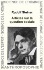 STEINER Rudolf Articles sur la question sociale (GA 24) Librairie Eklectic